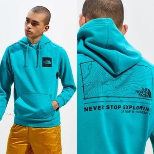 NWT The North Face Teal Topography Hoodie